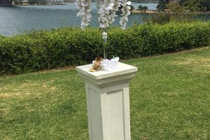 Wedding Pedestal & Vase with Flowers