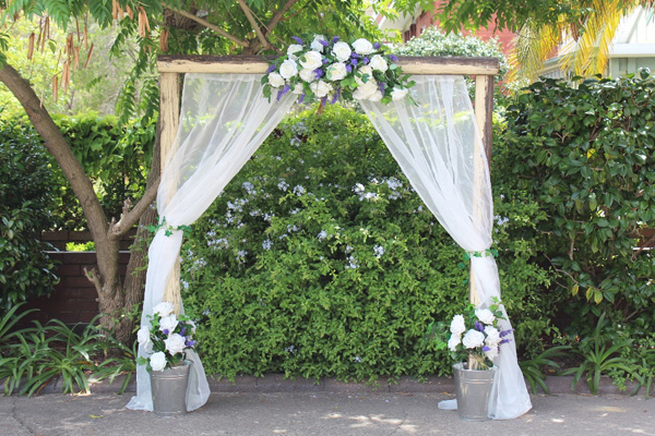 Rustic Wedding arch for hire