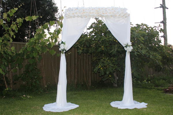 Wedding arch for hire