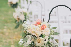 Shepherd Hooks + Flowers aisle decorations
