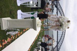 Wedding Pedestals & Vases with Flowers