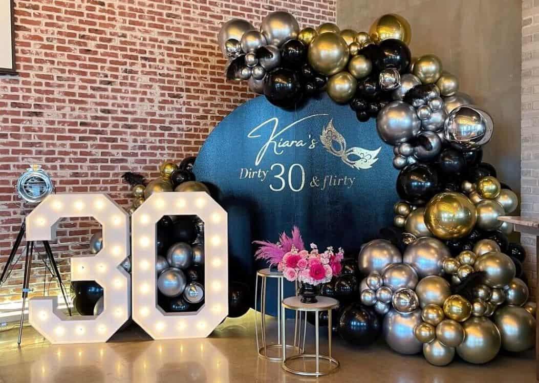 30th birthday decoration
